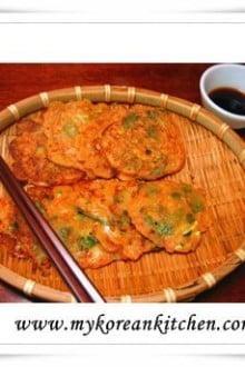 Gochujang Pancakes (JangTteok) | MyKoreanKitchen.com