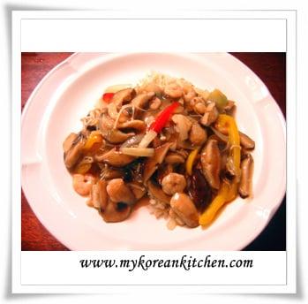 mushroom on rice