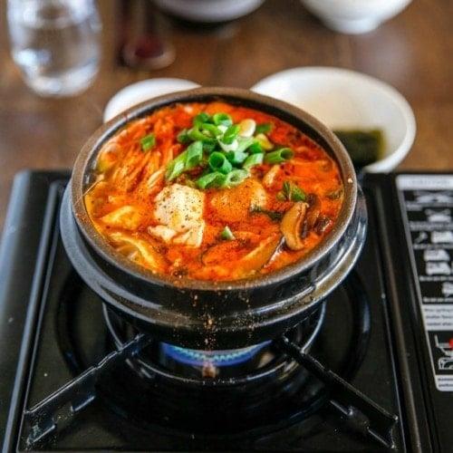 Sundubu Jjigae Korean Spicy Soft Tofu Stew My Korean Kitchen