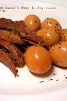 Jangjorim (Korean Soy Sauce Beef and Quail's Egg)   MyKoreanKitchen.com