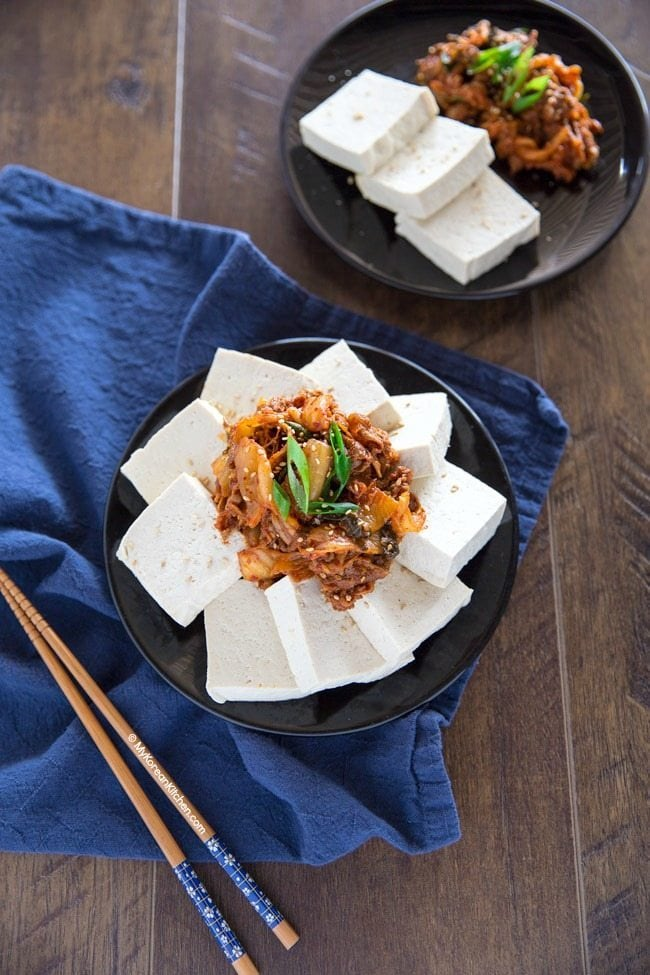 Tofu Kimchi (Dubu Kimchi) | MyKoreanKitchen.com
