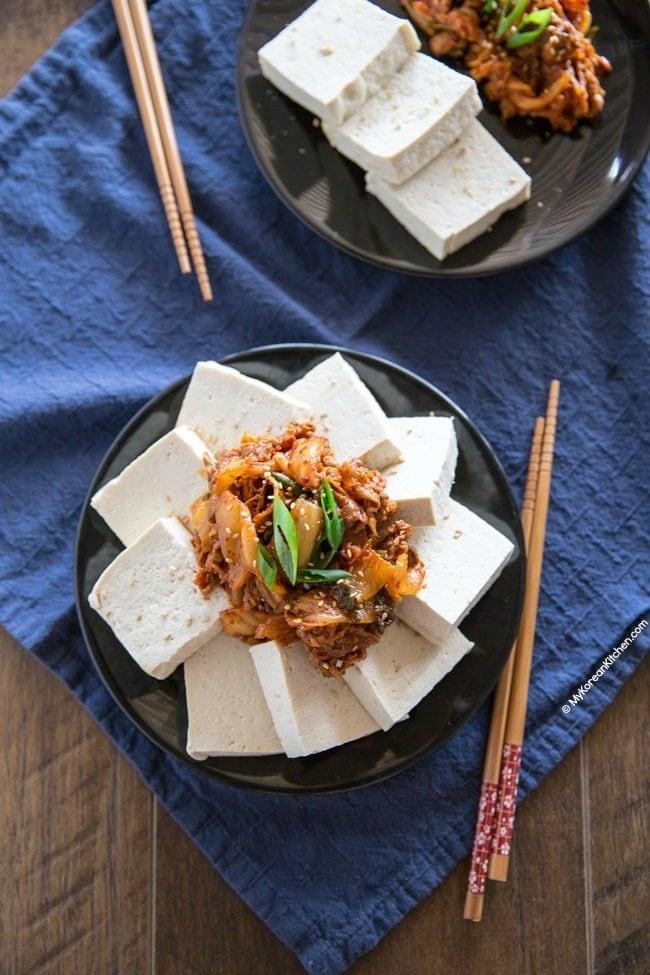 Tofu Kimchi (Dubu Kimchi) Recipe | MyKoreanKitchen.com
