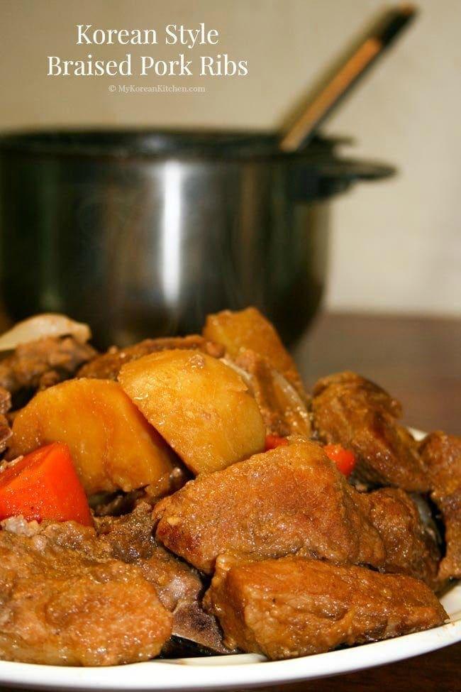 Pressure Cooker Pork Ribs (Dwaeji Galbi Jjim) | MyKoreanKitchen.com