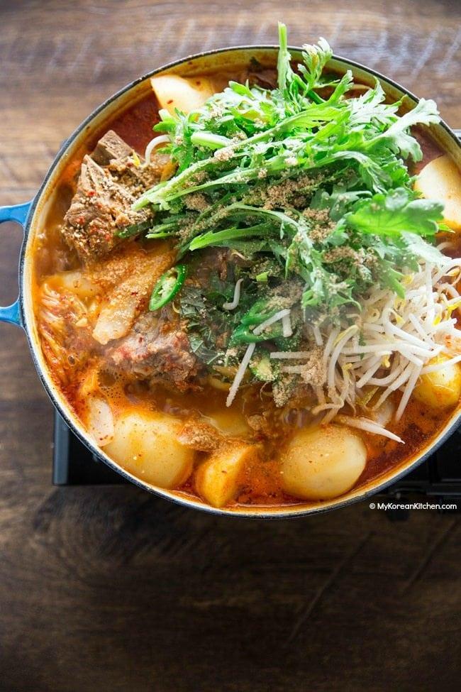 Gamjatang (Pork Bone Soup) - My Korean Kitchen