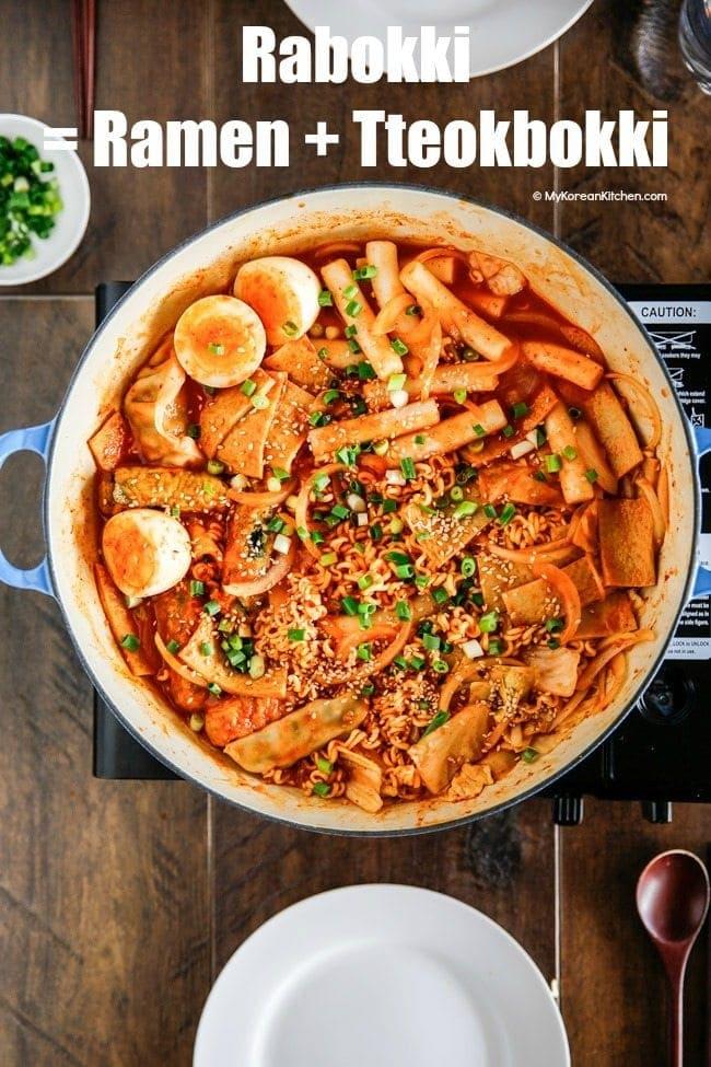 Rabokki Ramen Tteokbokki My Korean Kitchen