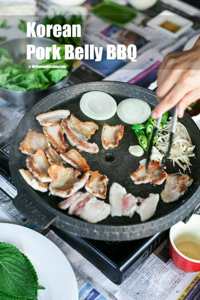 How to Do Samgyeopsal (Korean Pork Belly) BBQ at Home | MyKoreanKitchen.com