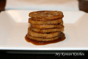 Braised Lotus Root | MyKoreanKitchen.com
