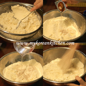 Sweet Pancake Mix (Hoddeok) step1