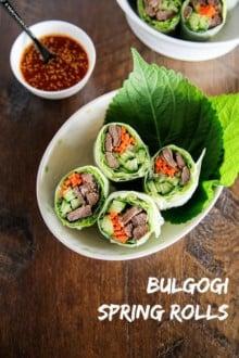 Bulgogi Spring Rolls | MyKoreanKitchen.com