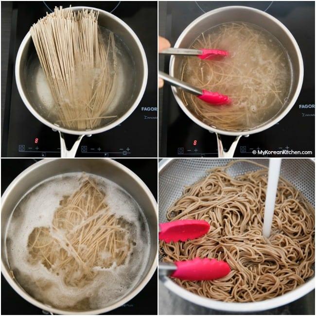 Boiling Soba Noodles