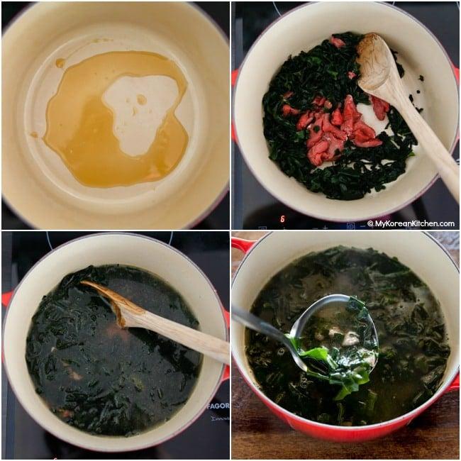 Making seaweed soup