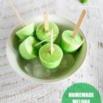 Melona Bar (Honeydew Melon Ice Pops) | MyKoreanKitchen.com