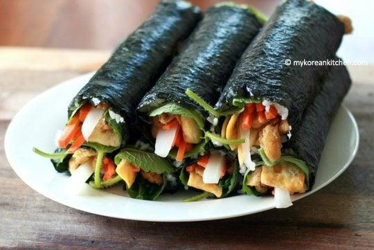 How to make inari roll (yubu kimbap)