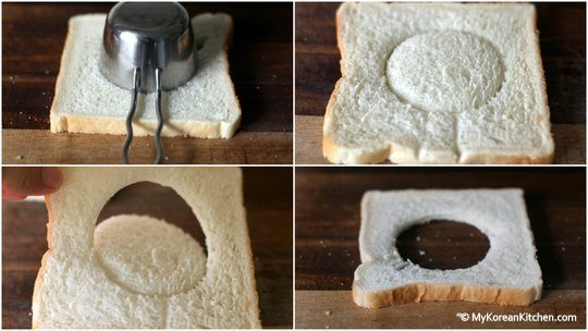 Making a hole on bread