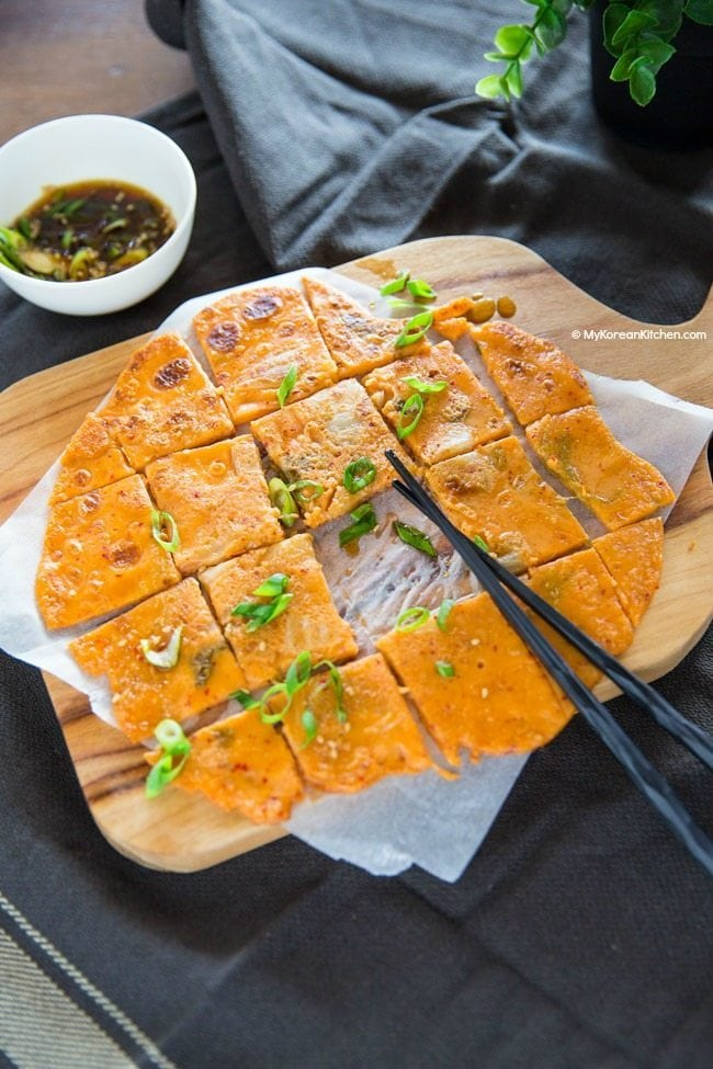 Kimchi Pancake Recipe | MyKoreanKitchen.com