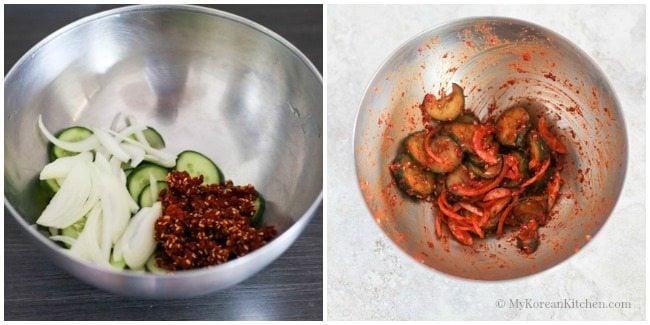 Korean Spicy Cucumber Salad | MyKoreanKitchen.com