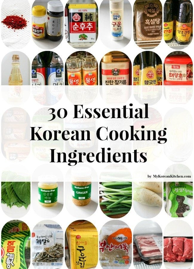30 Essential Korean Cooking Ingredients