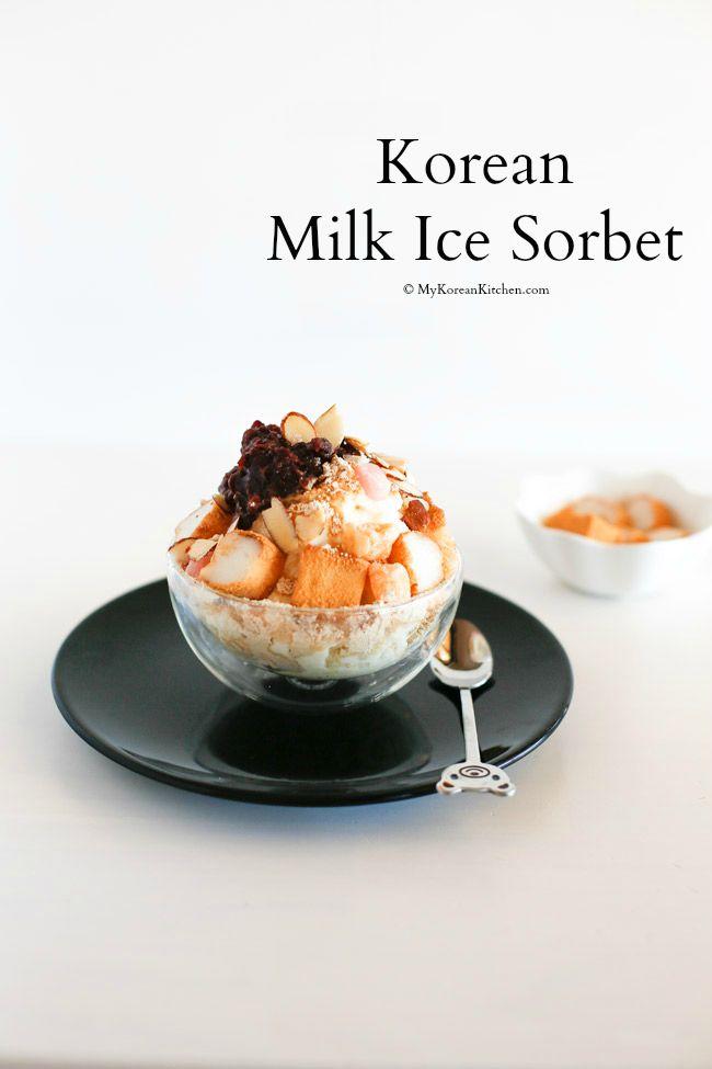 Korean Milk Ice Sorbet Injeolmi Bingsu My Korean Kitchen