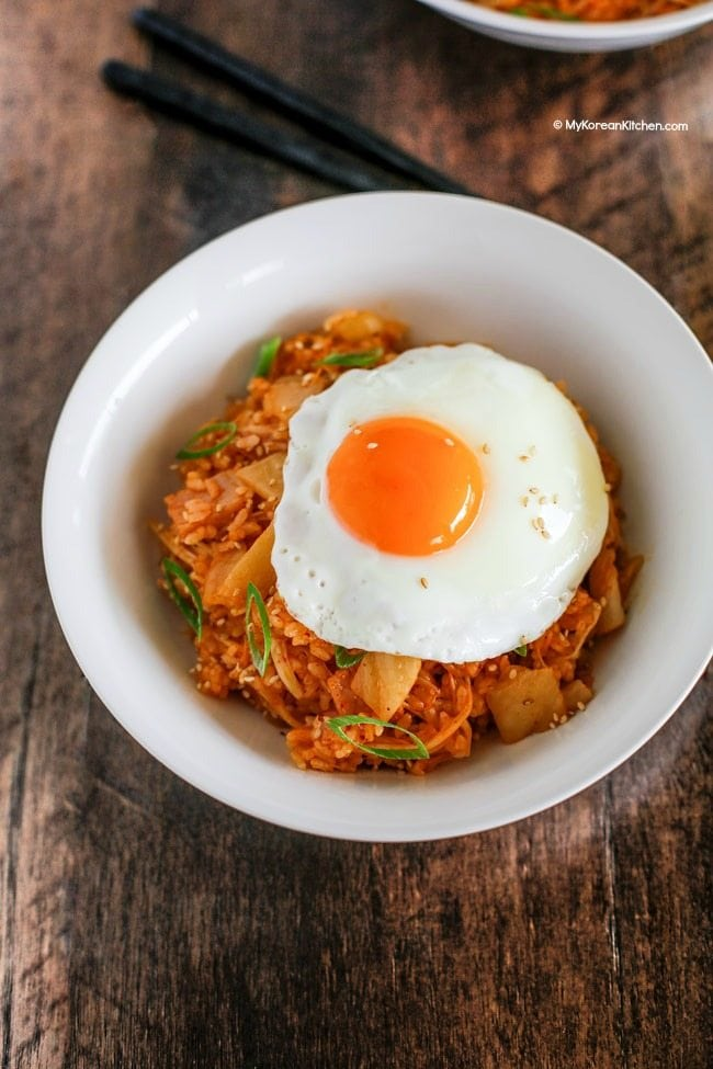 Kimchi Fried Rice Recipe | MyKoreanKitchen.com