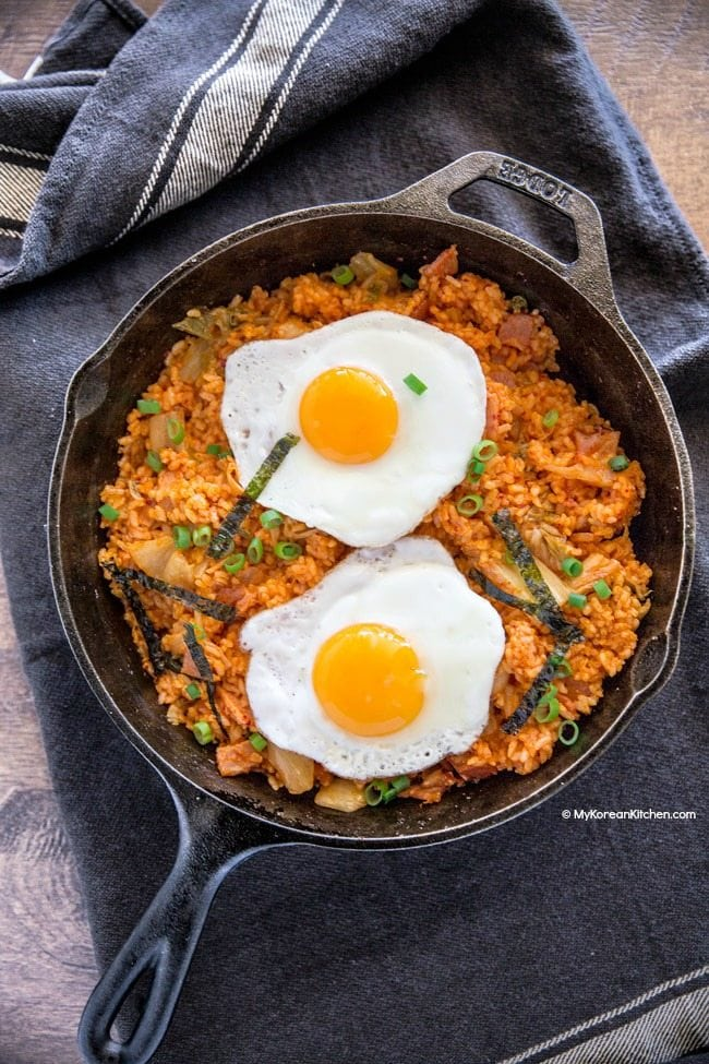 Easy Kimchi Fried Rice - My Korean Kitchen