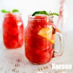 How to Make Korean Watermelon Punch. It's light, refreshing and will quench your thirst! | MyKoreanKitchen.com