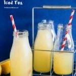 Honey Citron Sparkling Iced Tea | MyKoreanKitchen.com