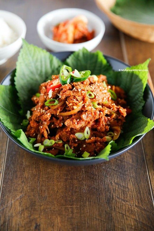 Spicy Pork Bulgogi | MyKoreanKitchen.com