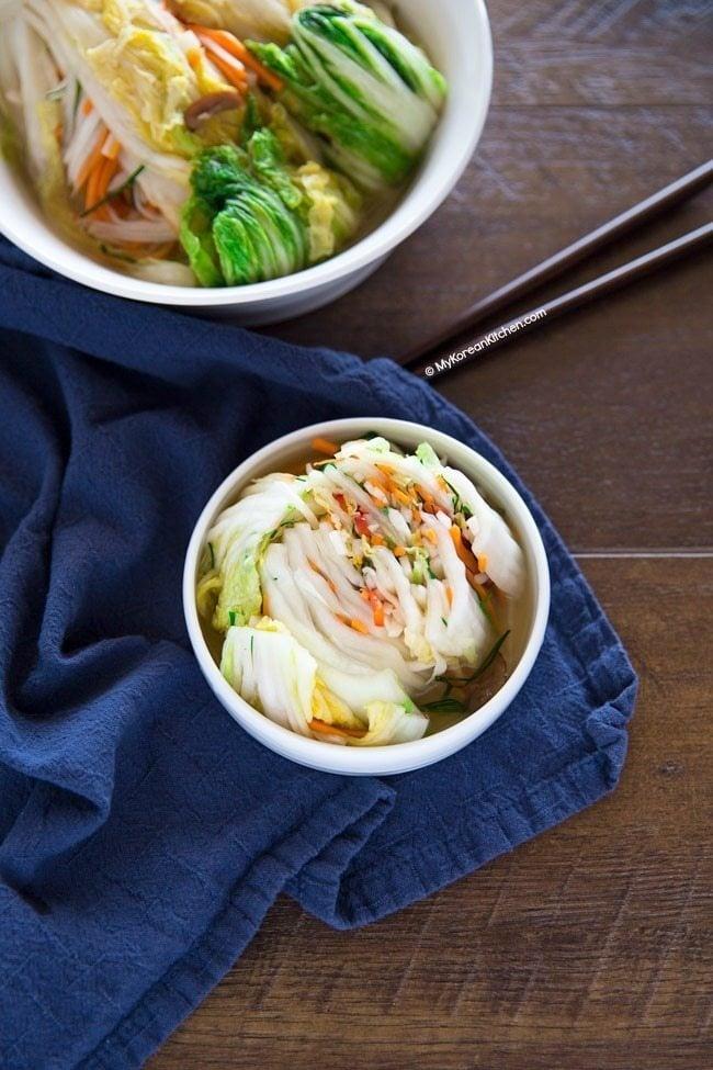 White Kimchi (Baek Kimchi) Recipe | MyKoreanKitchen.com