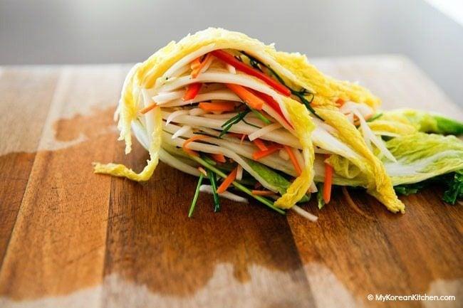 Stuffed white kimchi (baek kimchi)