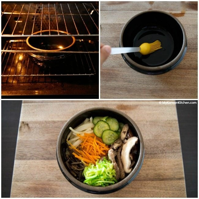 How to Prepare A Korean Hot Stone Bowl for Dolsot Bibimbap