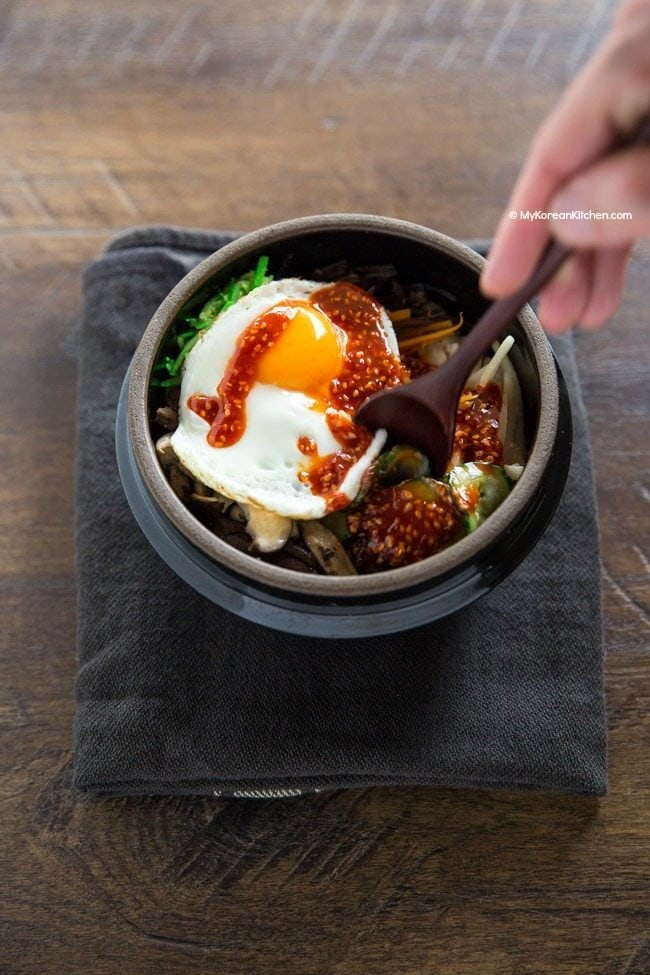 How to Eat Dolsot Bibimbap | MyKoreanKitchen.com