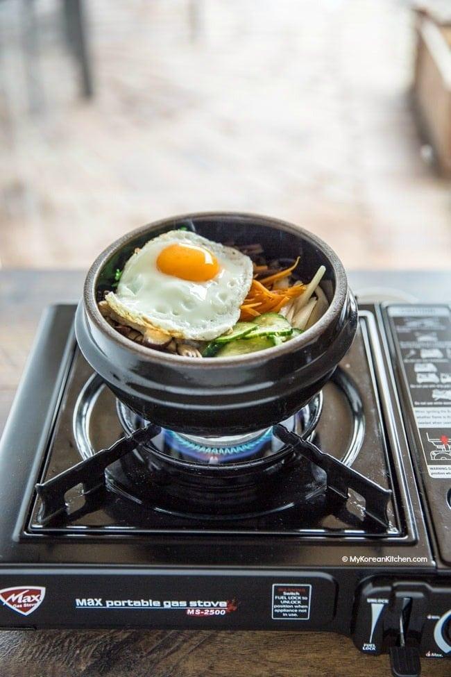 How to Make Dolsot Bibimbap | MyKoreanKitchen.com