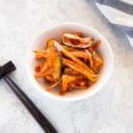 Spicy Bellflower Root Salad | MyKoreanKitchen.com