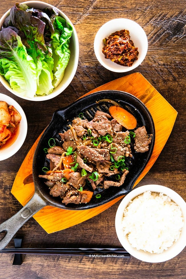 Bulgogi Korean Bbq Beef My Korean Kitchen