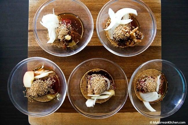 Five version of ssamjang sauce