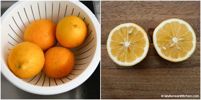 meyer lemon - outside vs inside