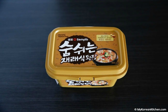 Doenjang in a container