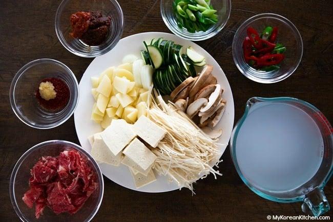 Doenjang Jjigae Ingredients
