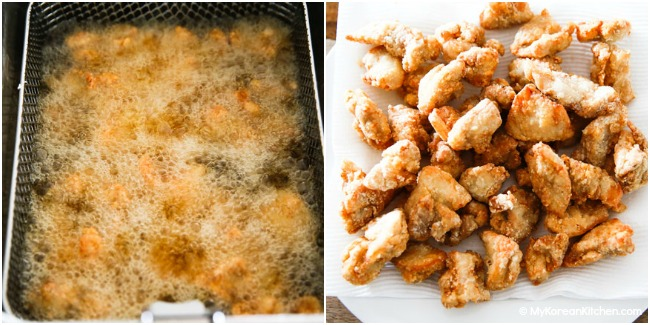 Deep frying chicken nuggets (1st time)