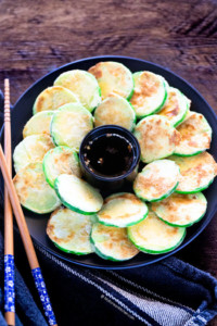 Stack of Pan Fried Korean Zucchini