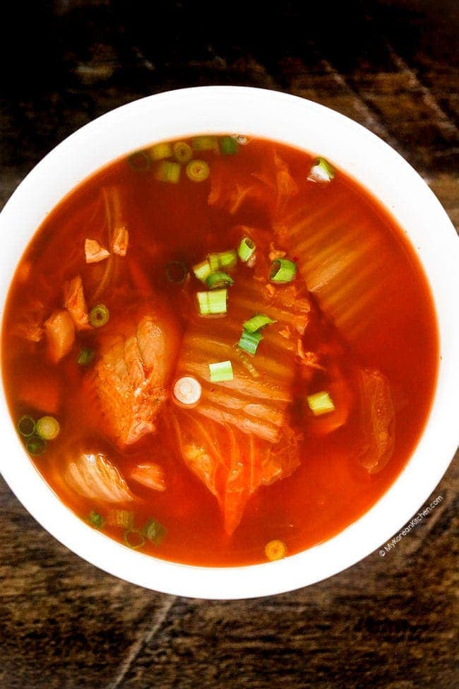 Kimchi Soup with Canned Tuna