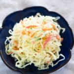 kelp noodle salad close up photo