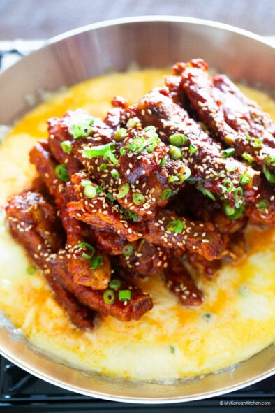 Spicy Baby Back Ribs with Melted Cheese